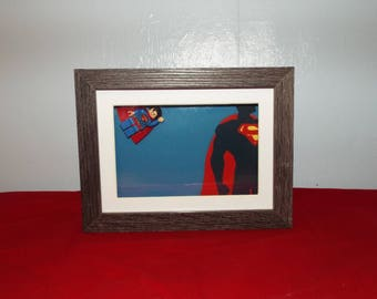 Superman Custom Mini figure  in a frame. Great Wall Decor