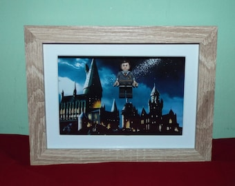 Hermione Granger Custom mini figures in a frame. Harry Potter. Great Wall Decor