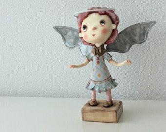O.O.A.K. Art doll Moppiedoll Jessica de Geus paperclay Angel
