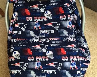 New England Patriots Infant Car Seat Canopy Baby Cover NE Football