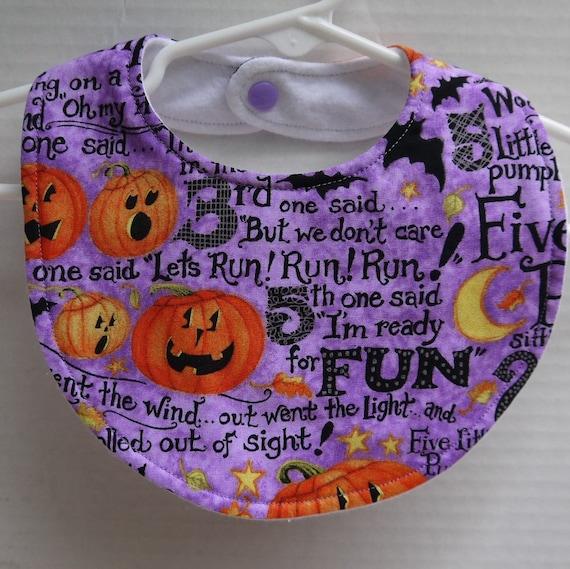handmade Bandana Dribble Bib Halloween Theme On Purple Fun,Halloween Baby