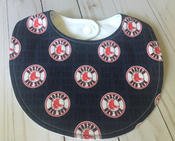 Boston Red Sox Baby Bib Red Sox Baby MLB Baby Boston Red Sox Gift Baby Bib Drool Red Sox Fan Baseball Theme Nursery New England Sports Baby