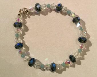 Swarovski Crystal and Sterling Silver Bracelets
