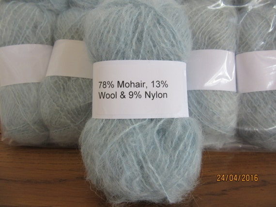 Mohair Wool Yarn 10 x 50g Balls Black 78/% Mohair Double Knitting