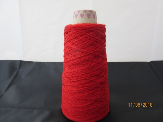 4 Ply Shetland Yarn 100/% Wool 100g or 400g Cone 29/'s NM Shade Queen of Hearts