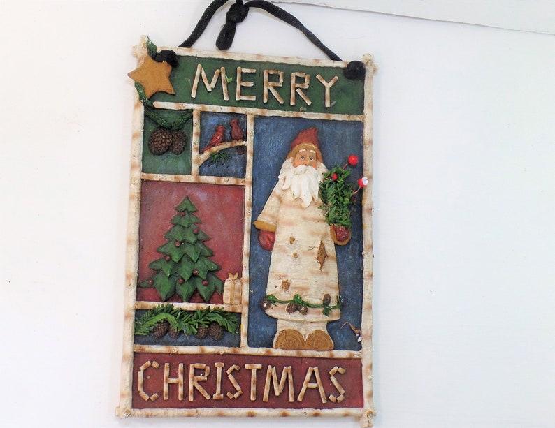 Xmas Wall Hanging Christmas Door Hanger Santa Claus Decor HOliday Decor