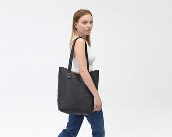 Leather Tote Bag, Leather Tote, Leather Black Tote, Tote Bag, Tote, Shoulder Tote, Leather Womens Bag, Leather Handbag, Shopper Bag, Bag