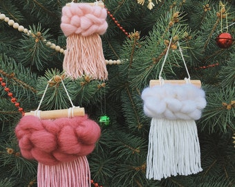 Christmas ornament, Christmas tree decor, Holiday scandinavian decor, Nurse grandma self gift for mom, Handmade christmas decor set