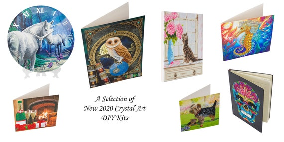 Craft Buddy Crystal Art DIY Greeting Card or picture Kit PRETTY PEACOCK