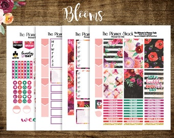 Blooms // 2017 Big Happy Planner // Big Happy Planner // Printable Planner Stickers // Planner Printables // Floral // Printables