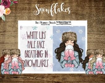 Snowflakes | Pocket tn | A6 tn | B6 tn | Personal tn | Personal Wide | Standard tn | Printable | Travelers Notebook | Dashboard | Printables
