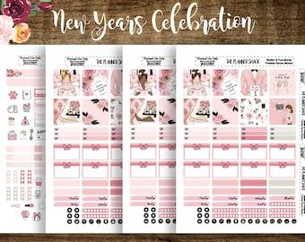 New Years Celebration | Mini Happy Planner | Printable Planner Stickers | Planner Printables | Cut Files | New Years | DIY Stickers