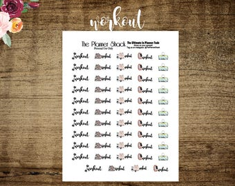 Workout   Printable Planner Stickers   Planner Printables   Printables   Fitness   Workout Printable   Gym Day   Gym Bag