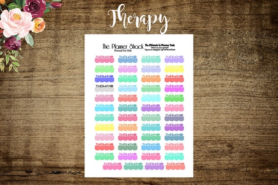printable therapy appointment planner stickers therapy etsy