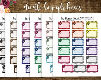 Bow Boxes   2017 Big Happy Planner   Printable Planner Stickers   Bows   Functional   Half boxes   Printables