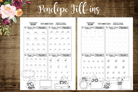 image about Printable Fill Ins referred to as Fill Ins Penelope Exertion Wake Up Personalize Printable Planner Stickers Planner Printables Printable Do it yourself Stickers Slash Data files