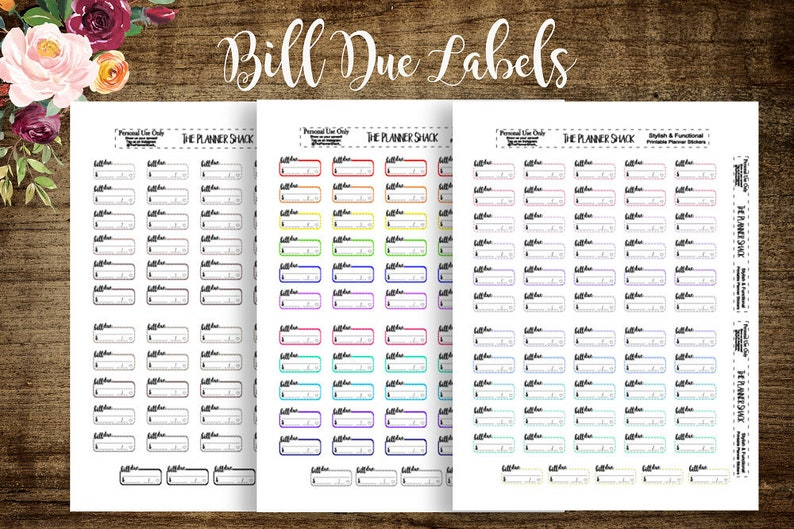 photo regarding Annie Plans Printables named B6 Regular monthly Invoice Because of Labels B6 TN Annie Applications Printables Slice Documents  Printable Planner Stickers Planner Printables Printables