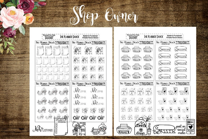 photo about Etsy Printables named Store Operator Etsy Etsy Store Proprietor Printable Printable Planner Stickers Planner Printables Slice Data files Products Print Minimize