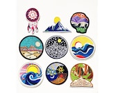 Travel Iron on Patch Vintage Retro Patch Sew on patch easy to put on West Coast Travel Patch Rocky Mountains Embroidered Patch