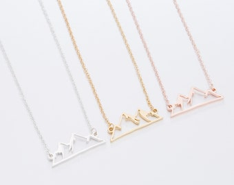 Rocky Mountain Shape Necklace Stainless Steel / Mother's Day Gift / Gift for her