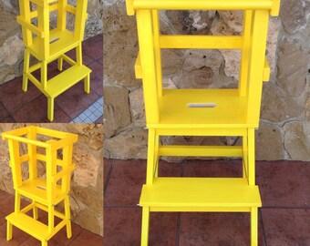D'apprentissage Montessori-tour jaune tour