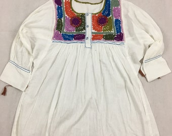 Mexican hand embroidered blouse