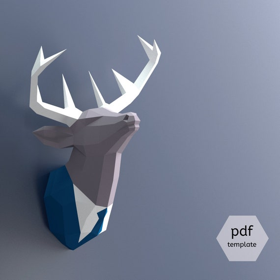 Papercraft Deer Head Make Your Own Trophy Paper Pdf