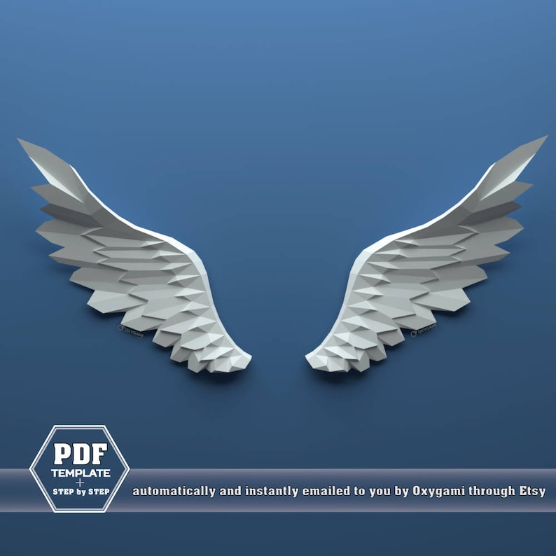 Wings Papercraft Paper Angel Wings Pegasus Wings Do It Etsy