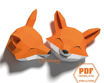 Make 2 happy foxes yourself from these printable patterns! Ideal for a forest themed bedroom. Simple instructions (beginner-friendly)