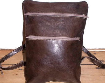 RETRO | Womens Brown Leather Backpack, Leather Rucksack, Laptop Backpack, Leather Bag, School Bag, Travel Bag, Leather Accessories