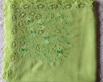 Crystal and Lace Square Scarf