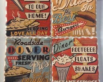 Retro Diner Coaster Set