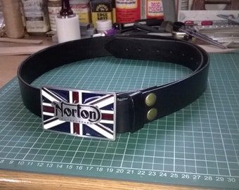 Norton Belt Buckle with Full Grain leather belt
