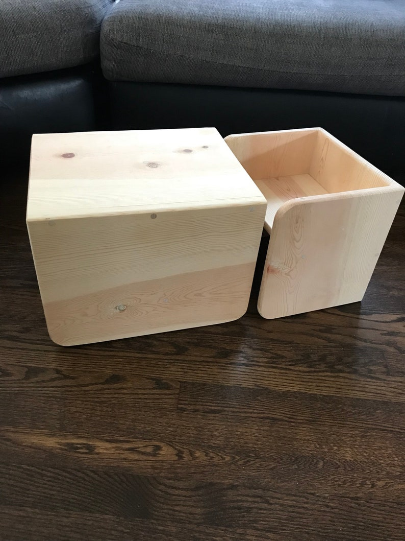 Set of Cube Table and Chair for children with Optional Handles on the Chair