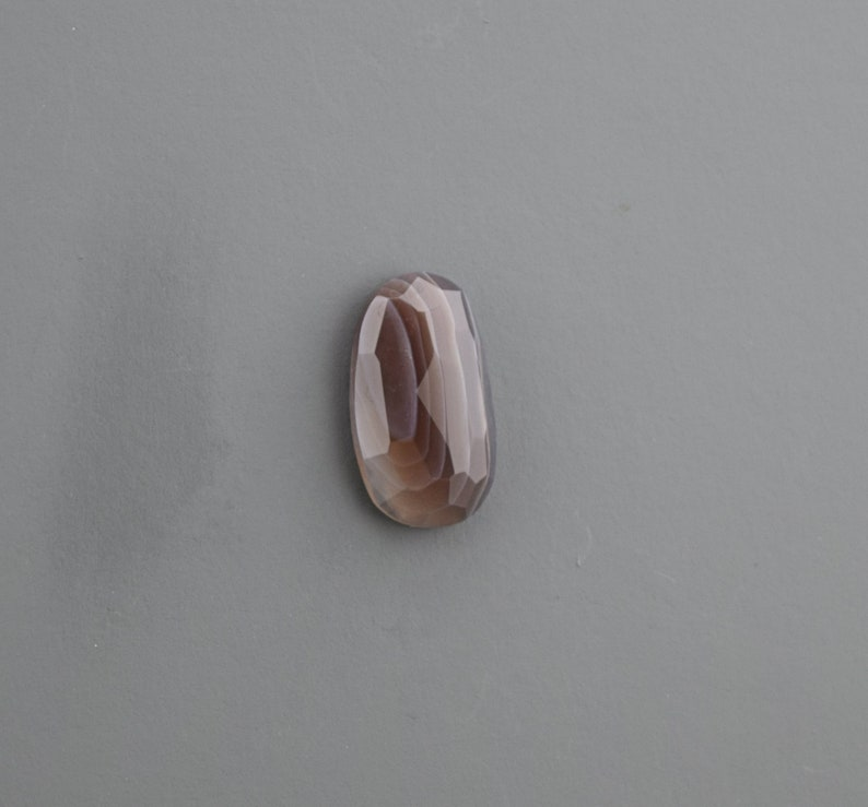 Faceted Botswana Agate Cabochon