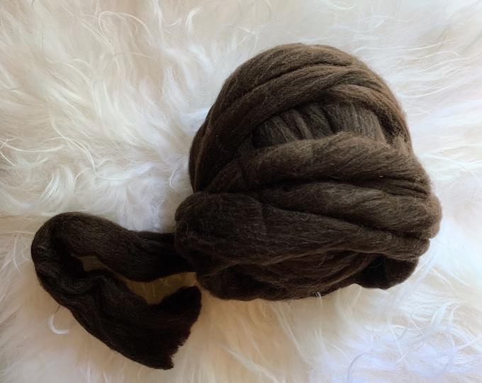 Brown 100% Wool Roving