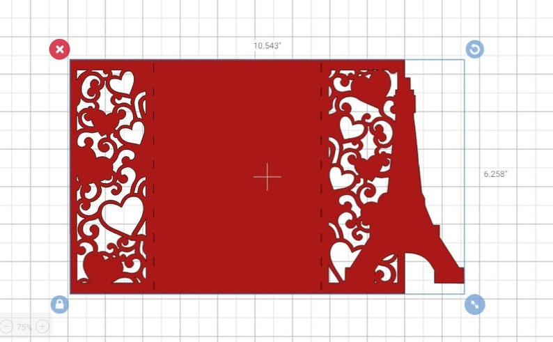 SVG wedding invitation anniversary card eiffel tower hearts cricut cut files silhouette cameo laser cut dxf sweet sixteen quincea\u00f1era cards