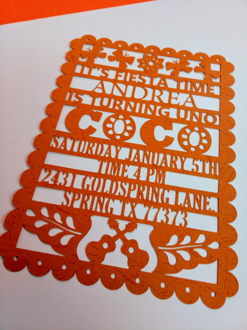 Coco SVG Files Template Cutting Papel Picado Invitations For Fiesta Or Mexican Birthday Party Laser Digital DXF AI Png