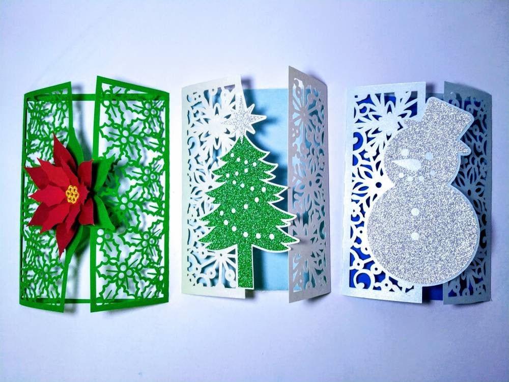 Download Bundle SVG Cricut Christmas Cards Cut Files Templates   Etsy