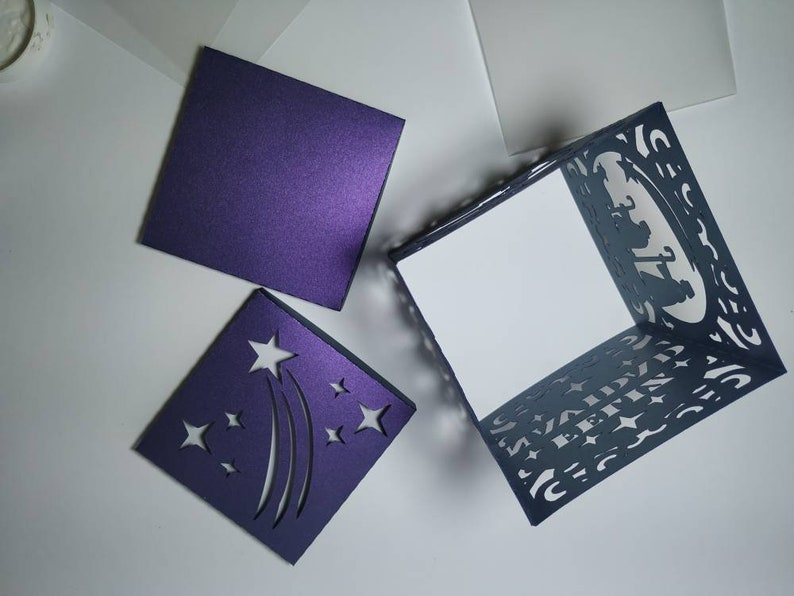 SVG cricut Christmas Ornaments Lantern Favor Box Template Nativity Scene Gift Christmas Cricut Cut File boxes Silhouette Cameo dxf Laser Cut
