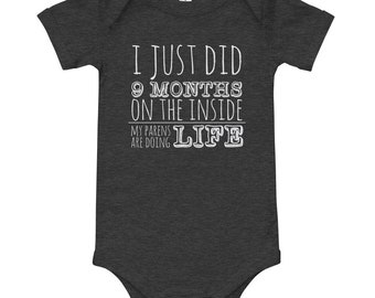 I Did 9 Months Hard Time Currently Serving 18 Years Parole Baby Onesie Jail