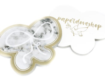FOILED Bow/Marble Sticky Notes-- Foil/Bow/Marble Sticky Notes (Exclusive Design)