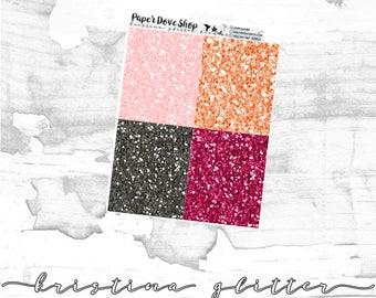 Kristina Glitter-- ECLP Stickers, Decorative Stickers, Planner Stickers, Glitter Headers