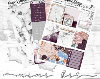 Dalia Mini Kit-- ECLP Vertical Kit, Decorative Stickers, Planner Stickers, Purple/Plum/Cozy Kit