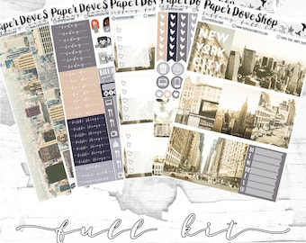 Tiffany Full Kit-- ECLP Vertical, Decorative Stickers, Planner Stickers, NYC Kit