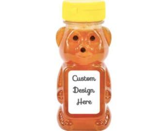 Custom design - Honey bear Labels for shower or party favors