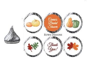Fall-Thanksgiving-themed Custom Kisses Stickers