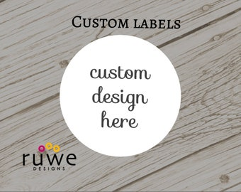 Custom design Round or Square or Fancy shape Stickers