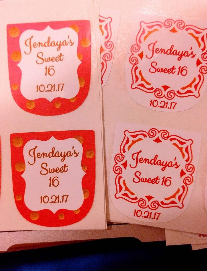 Customized hand sanitizer Labels for Bridal shower favors