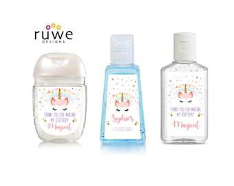 Unicorn Rainbow - Custom Hand Sanitizer Labels